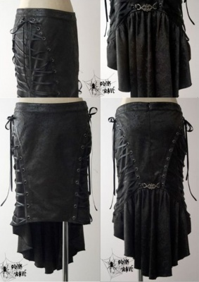 punk-rave-gothic-fish-tail-skirt3