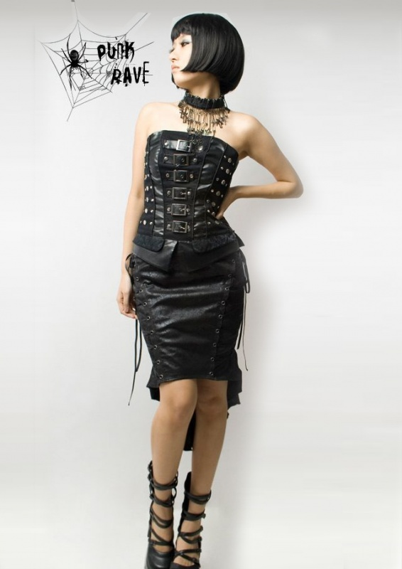 punk-rave-gothic-fish-tail-skirt1